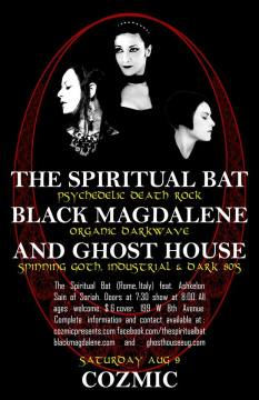 August 2014 The Spiritual Bat/Black Magdalene/GH at Cosmic